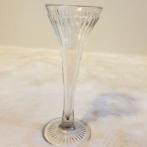 Hand Blown Thick Glass Tall Vase Vintage